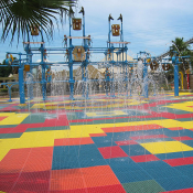 <p>Play Matta&trade; Rebound Rubber Aqua has the same PVC composition as all Rebound tiles, with a rubber surface, makes it ideal for waterplay</p>